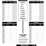 Scorecard - blank